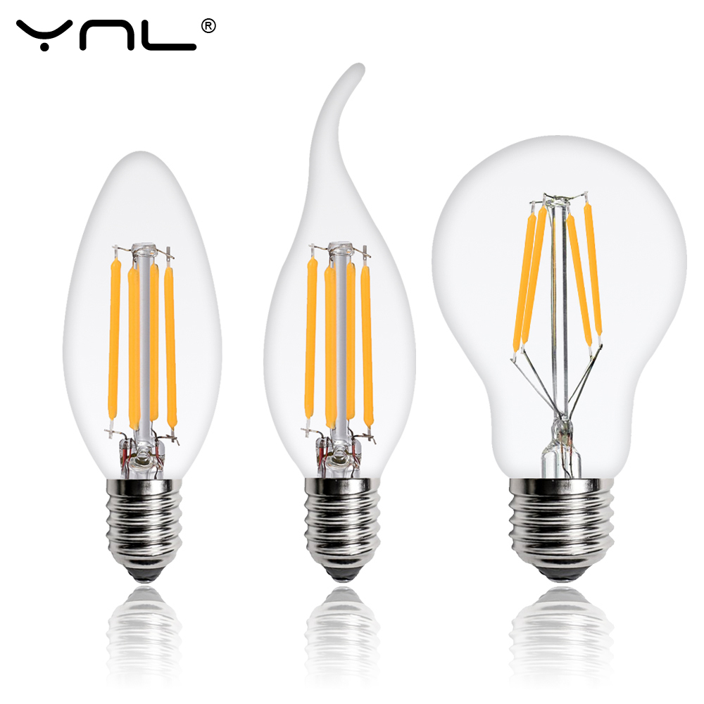 E27 LED Edison Bulb E14 Led Lamp 2W 4W 6W 8W 220V Retro Lamps Vintage Candle Light C35 C35L A60 G45 Bombillas LED Light Bulb