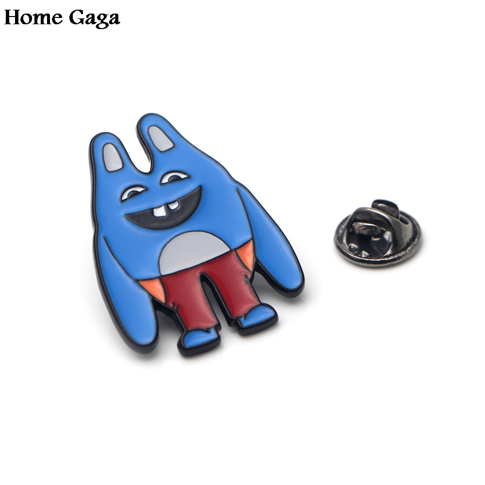 Badges Systematic Homegaga Cartoon Brooches For Men Women Broad City Zinc Pins Para Diy Backpack Bags Hat Medal For Shirt Insignia Badges D0899 Finely Processed