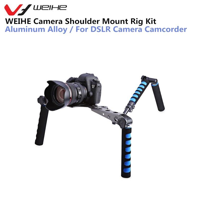 WEIHE Camera Bracket holder Aluminum Alloy Camera Movie Shoulder Rig Kit for DSLR Camera Camcorder