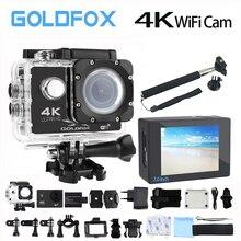 Goldfox H9 Стиль действие Камера Ultra HD 4 К 30fps 170D Wi-Fi спорт видео Камера 30 м Go Водонепроницаемый Pro велосипед шлем Cam Автомобильный видеорегистратор