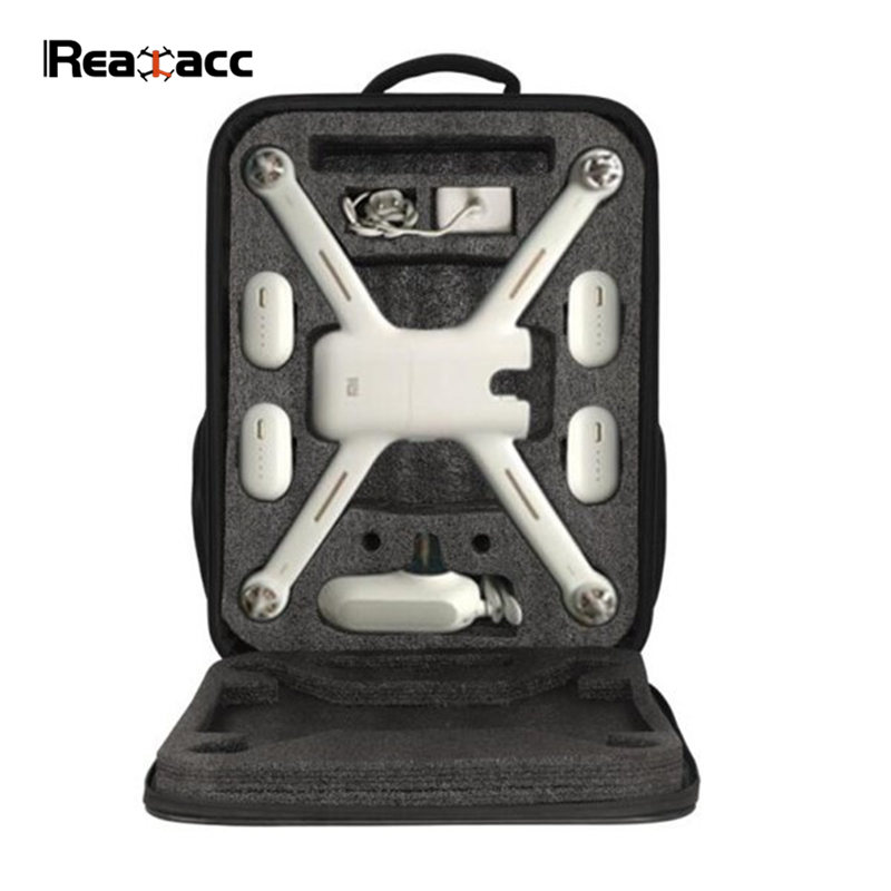 High Quality Realacc Backpack Carrying Case Bag Suitcase For Xiaomi Mi Drone RC Quadcopter FPV Spare Part Accessories genuine original xiaomi mi drone 4k version hd camera app rc fpv quadcopter camera drone spare parts main body accessories accs