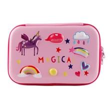 Unicorn pencil bag Kawaii EVA Creative school supplies big pouch large Novelty case