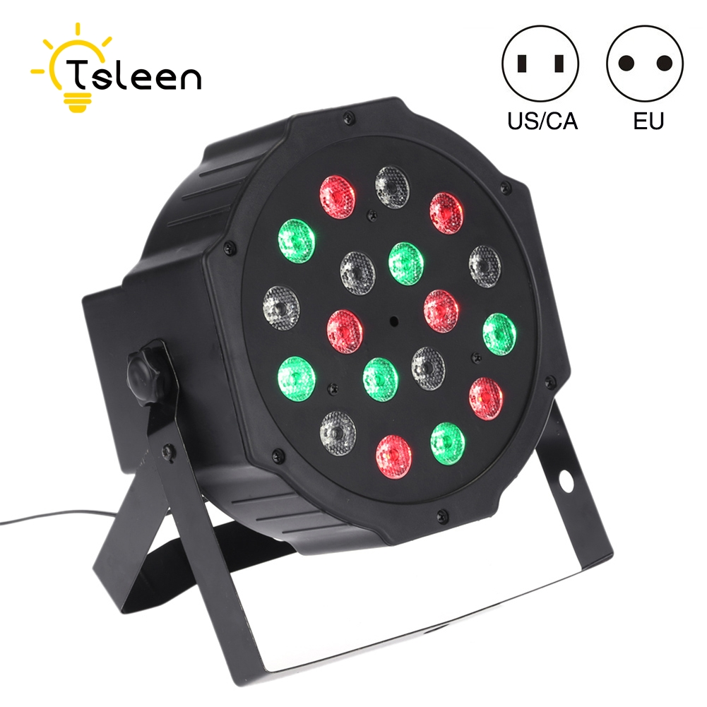 TSLEEN Led Stage Lamp RGB 18 Leds DMX Disco Laser Effect Light Party Lumiere Christmas Laser Projector Lights Outdoor US EU Plug transctego laser disco light stage led lumiere 48 in 1 rgb projector dj party sound lights mini laser lamp strobe bar lamps page 6
