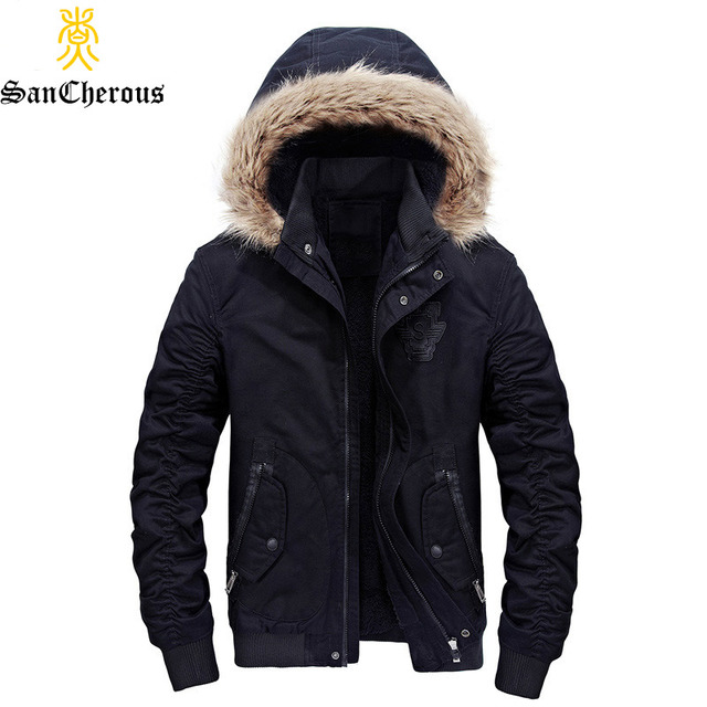 2018 Men New Winter Jacket 100% Cotton Thick Warm Parka Casual ...