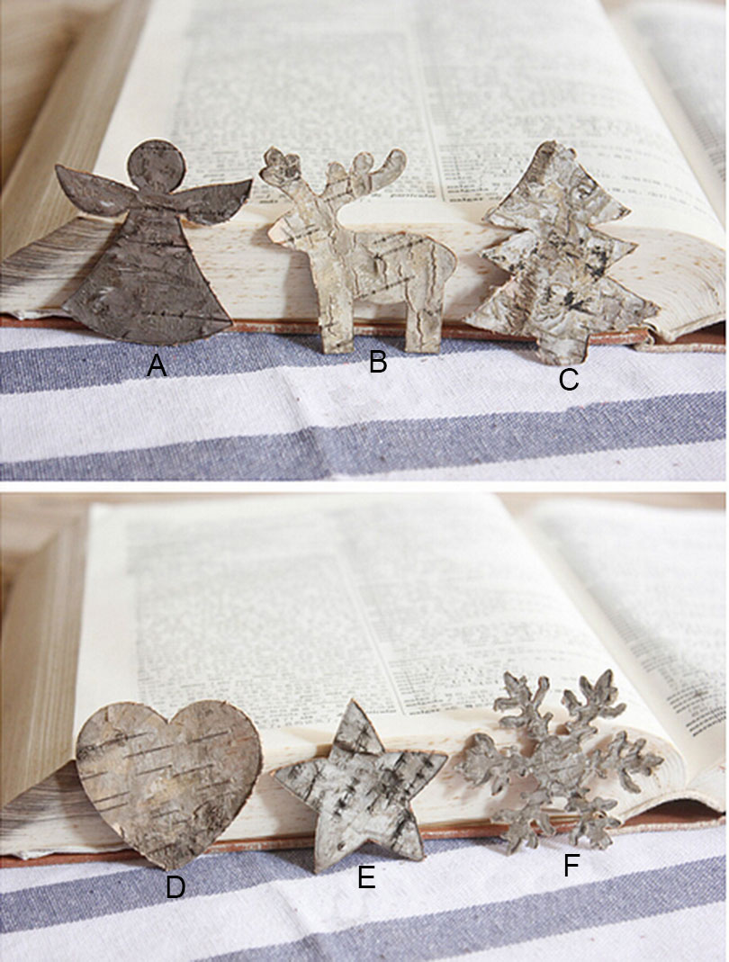 30pcs lot christmas tree decoration new year gift wood for Hand work decoration