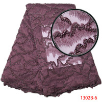 2017 Latest Style Design High Quality African Lace Fabrics For Wedding Dress Net Lace Fabric Handmad
