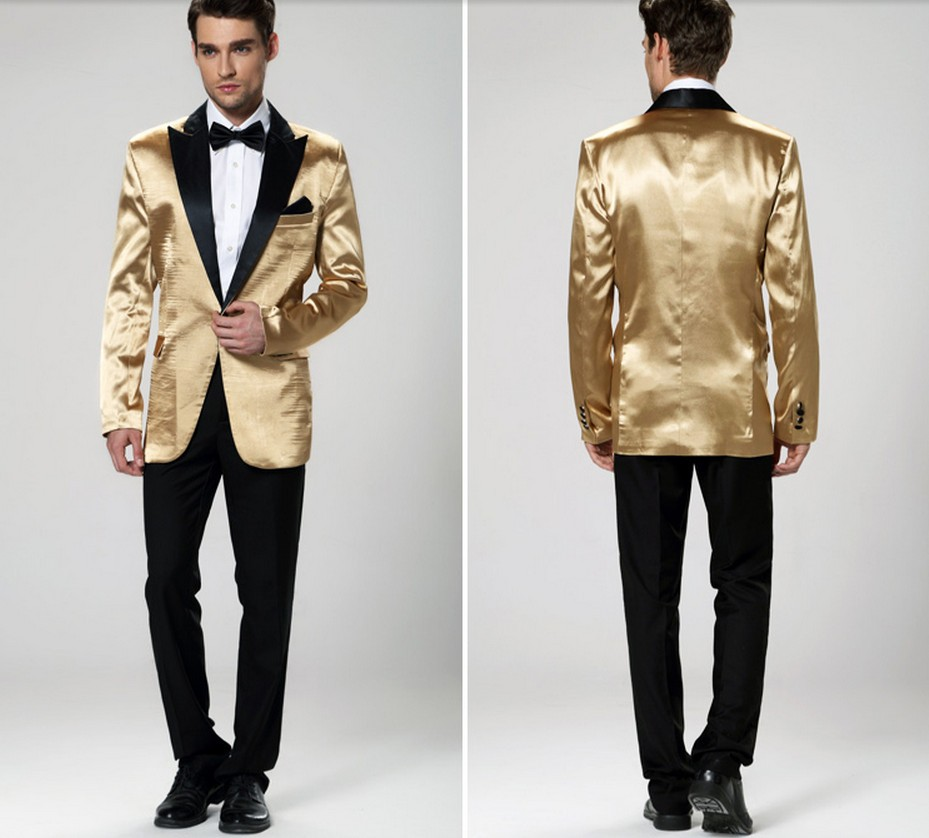 new 2017 men wedding party suit gold jacket groom tuxedos for men wedding suits for men. Black Bedroom Furniture Sets. Home Design Ideas