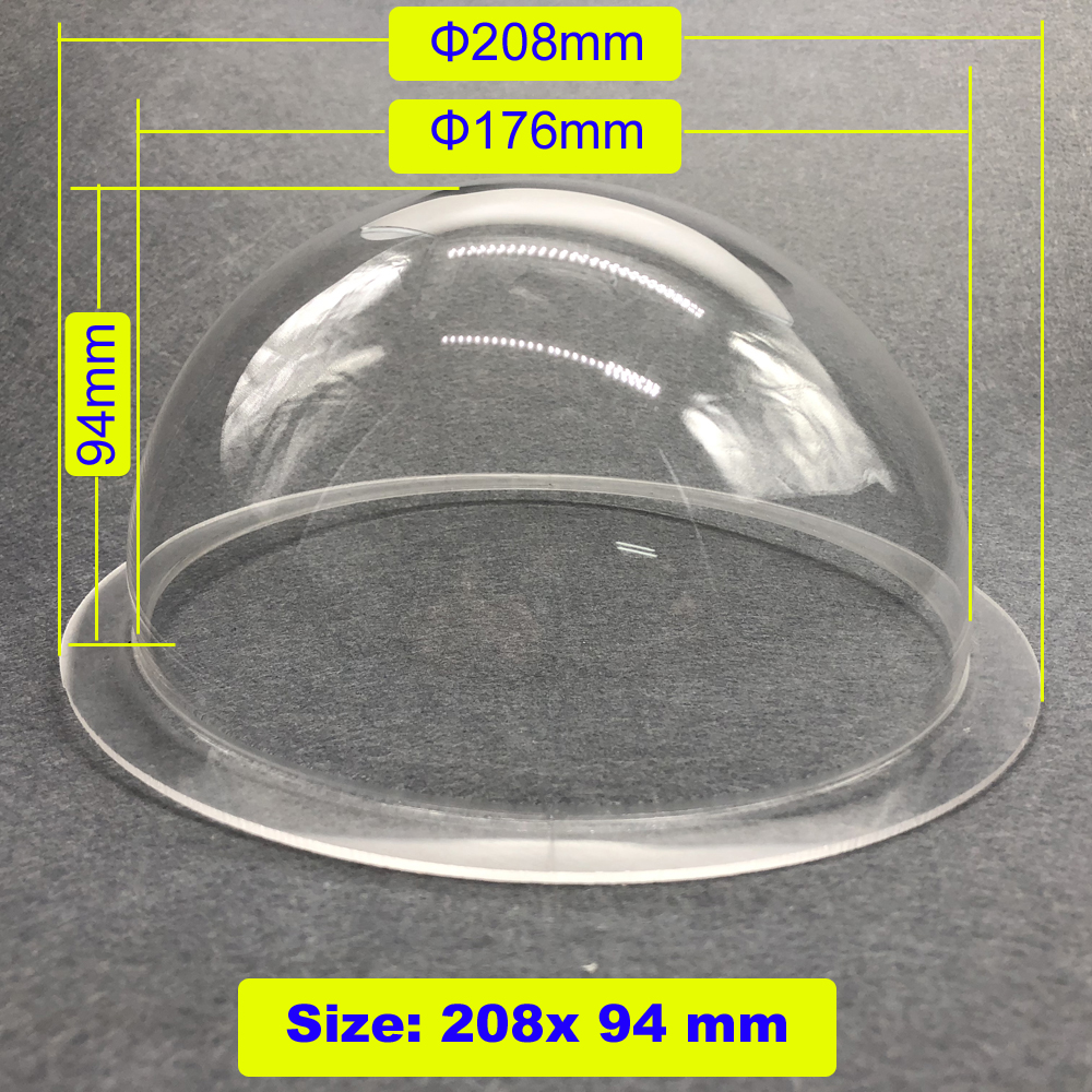 208x94mm Clear Acrylic High Speed Dome PTZ Camera Shield Housing/ Anti-dust Protection Case for CCTV Camera208x94mm Clear Acrylic High Speed Dome PTZ Camera Shield Housing/ Anti-dust Protection Case for CCTV Camera