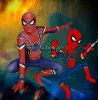 3D Shade Blue MCU Spiderman Homecoming Cosplay Kostuum Zentai Iron Spider Man Superhero Bodysuit Pak Jumpsuits