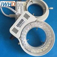 LED-60 LED anillo lámpara microscopio luz LED blanca brillo ajustable agujero 60mm fuente de luz especial lente iluminación