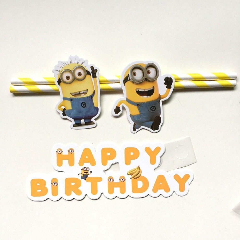 New Cartoon Despicable Me Minions Cake topper Picks baby children ...