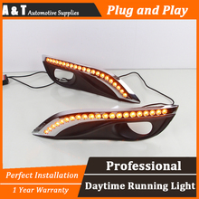 A T car styling For Peugeot 308 LED DRL For Peugeot 308 led fog lamps daytime