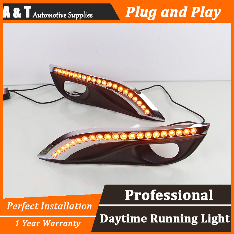 car styling For Peugeot 308 LED DRL For Peugeot 308 led fog lamps daytime running light High brightness guide LED DRL for lexus rx gyl1 ggl15 agl10 450h awd 350 awd 2008 2013 car styling led fog lights high brightness fog lamps 1set