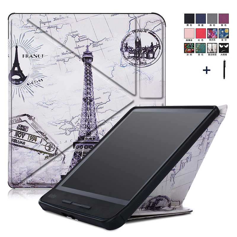 Printed Flip Leather Case For Kobo Forma 8'' Transformers Stand Cover For KOBO Forma 8 inch Capa Fundas+Stylus