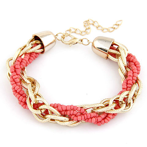 New Western Style Bead Jewelry Bohemia Fashion Charms Polychrome Color Metal Beads Bracelet Women Fine Jewelry  D211