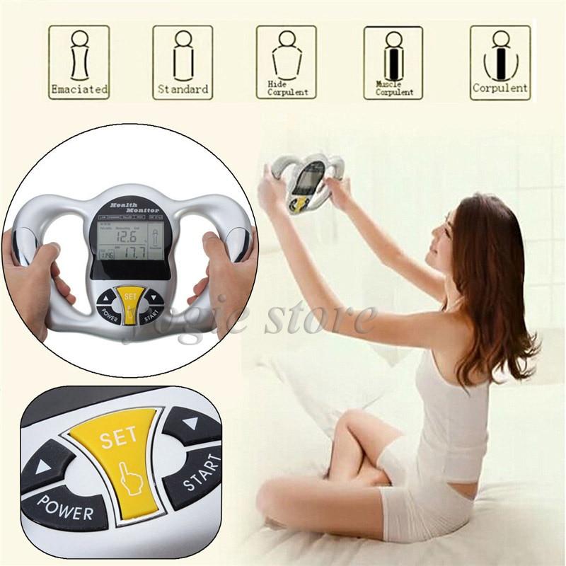 Handheld Digital LCD Body Fat Analyzer Fat Monitor BMI Meter Calculator Calorie Measure Health Body Fat Measuring Equipment handheld body fat analyzer bmi meter