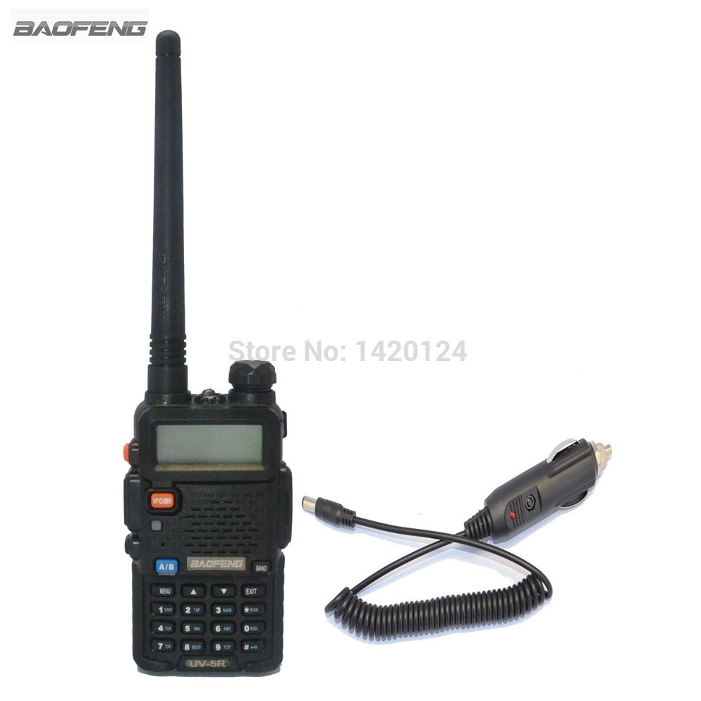 baofeng uv 5r two way radio sets vhf uhf dual band ham amateur portable walkie talkie car. Black Bedroom Furniture Sets. Home Design Ideas