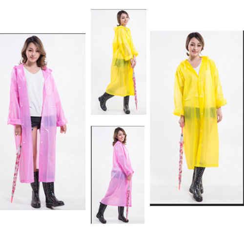 חדש נשים מעיל גשם עמיד למים מעיל גשם מעיל הוד בלתי חדיר קייפ פונצ 'ו