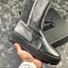 b5e503c014 2018 Rihanna X Puma Fenty Chelsea Sneaker Boot Women Shoes 366266-01  Durable Thick-