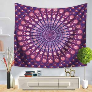 Image 2 - Indian Elephant Wall Hanging Tapestry Mandala Floral Carpet Chic Bohemia Decoration Kids Room Beach Towel Tribe Style Decor