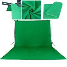 3X6 M/10 * 20Ft Foto Studio Grün Bildschirm Baumwolle Chromakey Musselin Hintergrund Kulissen Für Fotografie Studio beleuchtung Einfarbig