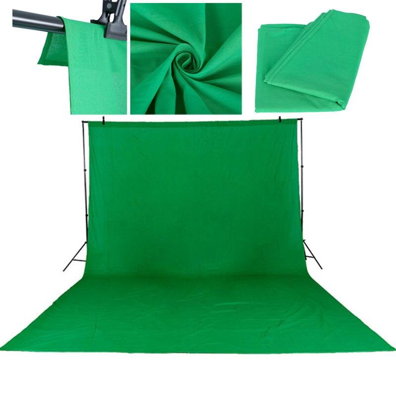 3X6 Mt/10 * 20Ft Foto Studio Grün Bildschirm Baumwolle Chromakey Muslin Hintergrund Backdrops Für Fotografie Studio beleuchtung Einfarbig