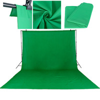 3X6M/10*20Ft Photo Studio Green Screen Cotton Chromakey Muslin Background Backdrops For Photography Studio Lighting Solid Color