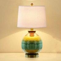 Американский современный минималистский керамическая deak лампы Теплый спальня ночники творческая личность гостиная исследование лампы
