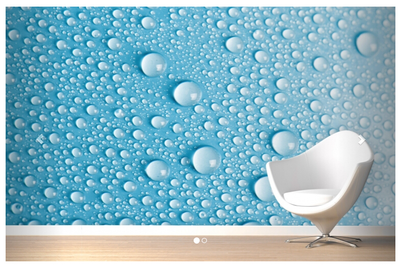 2014 Wallpaper Tapete Papel De Parede Aqua Dew Drops Mural For Living Room Sofa Tv Background Wall Paper Photo In Wallpapers From Home Improvement