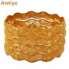Женский свадебный браслет Anniyo, золотисто золотистый браслет в африканском стиле, 4 штуки, ювелирное изделие на среднем каблуке #125706