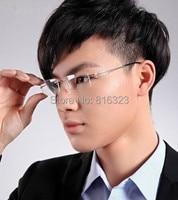 100% Luxury Titanium Eyeglass Frame Glass Rimless Man Women Light Spectacles RX