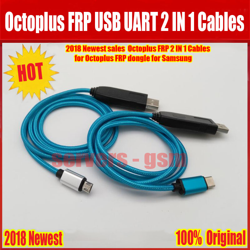 2018 Newest Octoplus FRP USB UART 2 in 1 Cable( micro+type c ) EFT UART cable For Octoplus FRP Dongle, EFT Dongle for samsung