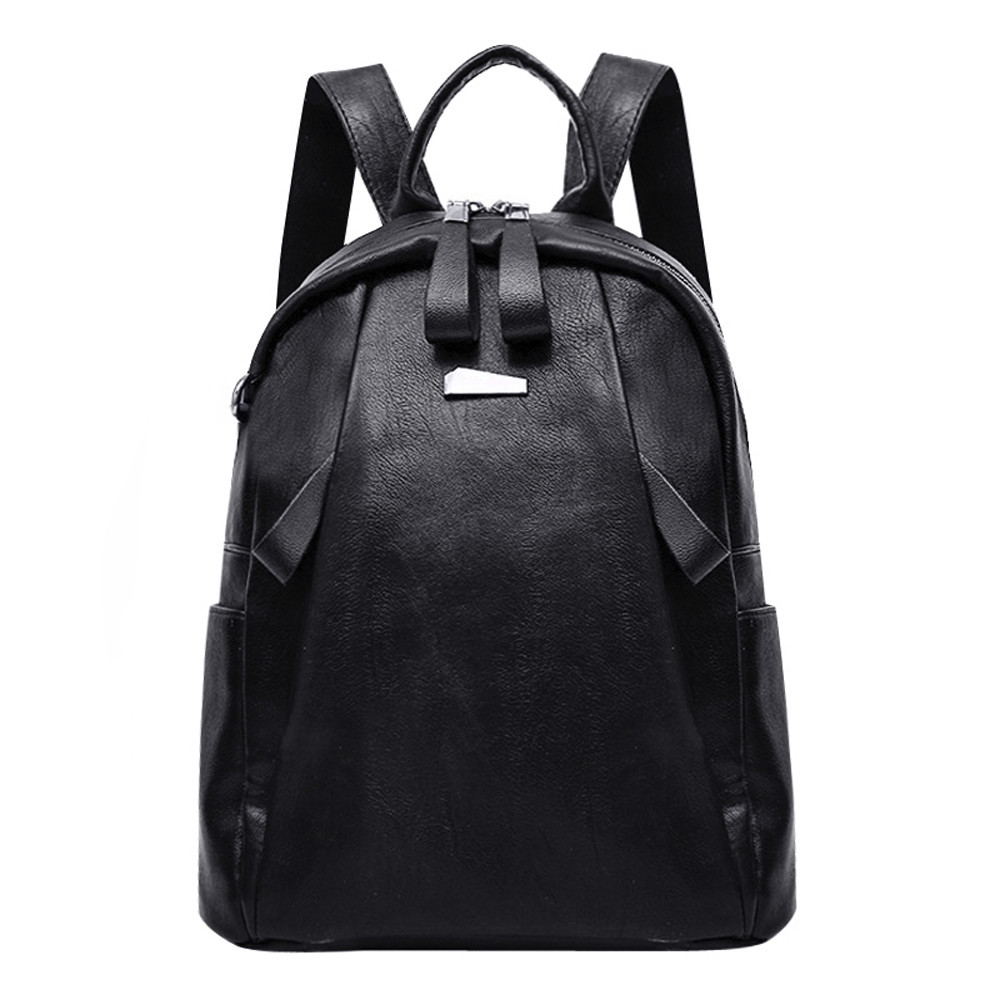PU Leather High Quality Women Backpack Fashion Plain School Bags For Teenager Girls Casual Women Backpacks Dropshipping#46 high quality pu leather women backpack fashion solid school bags for teenager girls large capacity casual women black backpack l