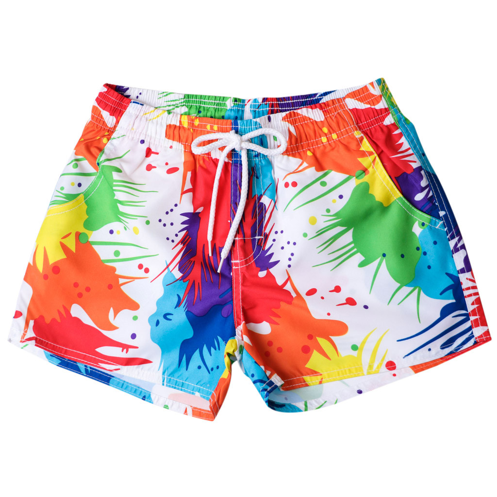 Men's Swim Trunks Quick Dry Beach Surfing Running Swimming Watershort Painted Casual