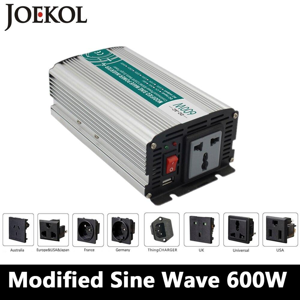 цена на 600W Modified sine wave inverter,DC 12V/24V/48V to AC 110V/220V,off grid inversor,solar inverter,voltage converter for home use