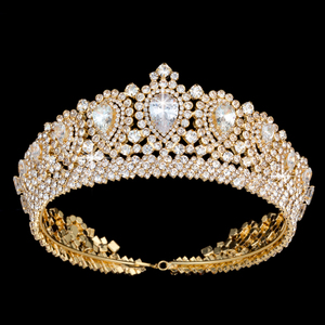 Image 2 - Hadiyana New Bling Wedding Crown Diadem Tiara With Zirconia Crystal Elegant Woman Tiaras and Crowns For Pageant Party BC3232