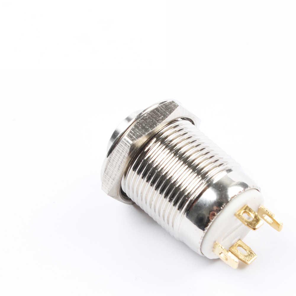 12 мм с высоким круглым Водонепроницаемый мгновенный Нержавеющаясталь металлическая кнопка Светодиодный индикатор переключателя блеск автомобильный гудок автоматического сброса 12GTHX. F 3V 5V