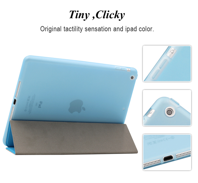 Portable Leather Silicone Soft Cover for iPad 2018 5