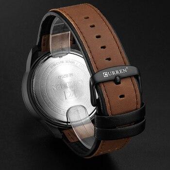 Â�レンカジュアル腕時計アナログ軍事スポーツ男性腕時計レザーストラップ石英男性時計レロジオmasculinoリロイhombre