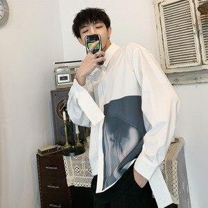 Image 3 - 2019 koreański styl mężczyźni Ulzzang świeże Temperament młodzieży Indie wyskakuje luźna koszula na co dzień