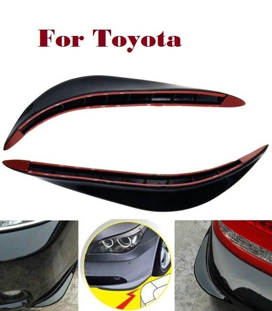 2PCSCar Bumper Guard Cover Stickers Protector 3D Streamline for Toyota Avensis Aygo Belta Blade Brevis Caldina Cami Camry toyota caldina модели 2wd