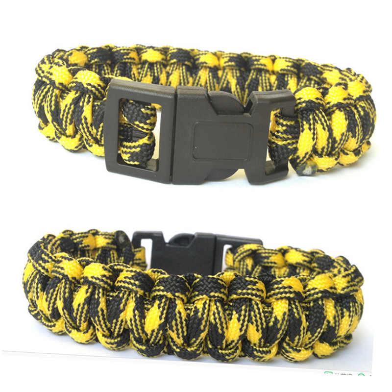 1 шт. оригинальный новый браслет-Паракорд для выживания для мужчин на открытом воздухе походный карабин браслет для женщин Веревка Браслет мужские ювелирные изделия