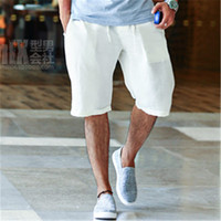 Summer Casual Man S Linen Shorts Handsome Fashion Style Men Quick Drying Beach Shorts Solid Plus