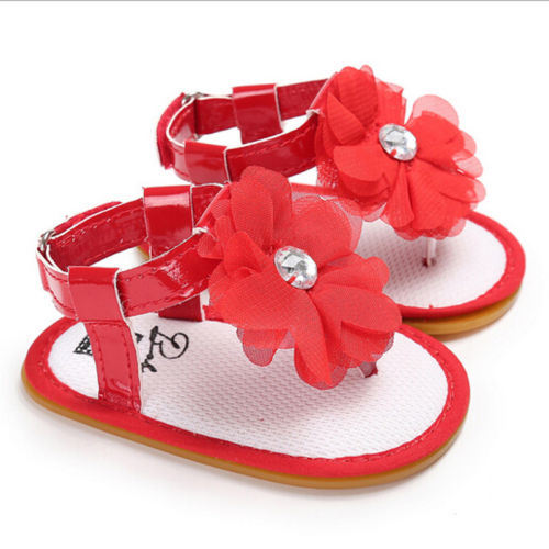 New Summer Newborn Baby Boy Girl Flower Diamond Sandals Soft Sole Crib Shoes Sneaker Prewalker