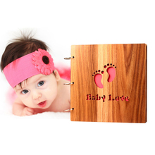 New 16 inch Woodcarving Cover DIY Photo Album Creative Handmade Collection Baby Growth Slbum Love Theme Memory Holder