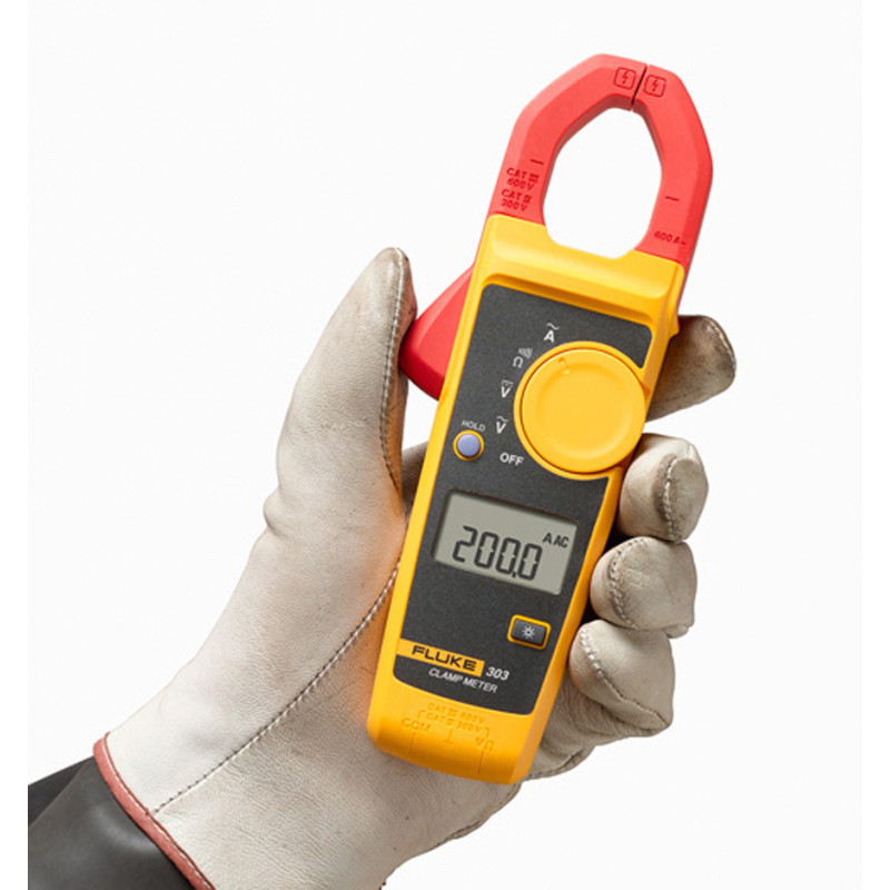 Fluke 303 F303 Digital Clamp Meter AC/DC Multimeter Tester fluke f302 1 6 lcd ac clamp meter yellow red 3 x aaa
