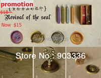 Wholesale Stamps Ancient Wax Seal Deluxe Suit Sealing Wax Stamp Free Shipping