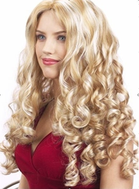 Long Wave Hair- Nature Wave Synthetic Lace Front Soft Full Head Hair For Women