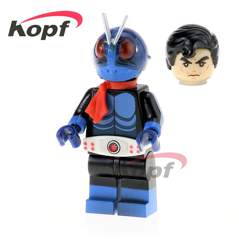 Single Sale Kamen Rider Masked Rider 1 NO.1 V3 Shocker Soldier Super Heroes Building Blocks Education Toys for children PG1172