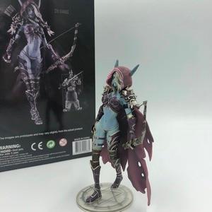 Image 2 - Sylvanas koyu Traxex PVC Action Figure Windrunner karanlık Ranger bayan koleksiyonu modeli 14cm